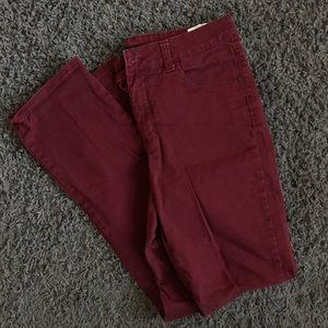 Lee Classic Fit Maroon Jeans